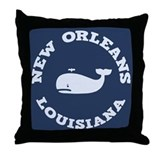 New Orleans Whale Tour Throw Pillow