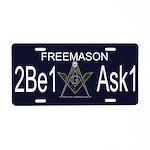 2B1 ASK1 Aluminum License Plate