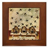 Save the HoneyBee Framed Tile