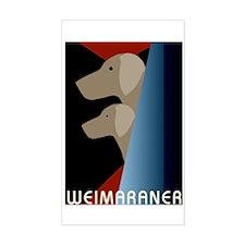 Weimaraner Bauhaus Geo Rectangle Decal