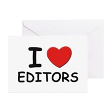 I love editors Greeting Cards (Pk of 10)