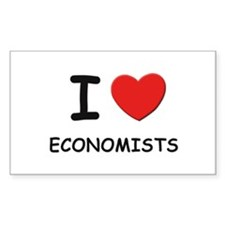 I love economists Rectangle Decal
