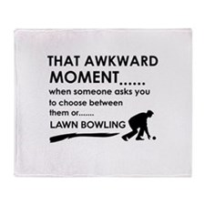 Lawn Bowling sports designs Throw Blanket