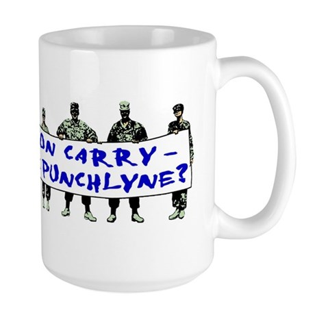 Tell Us Jon Carry! Large Mug