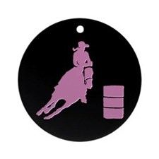 Barrel Racer Horse Ornament (Round)