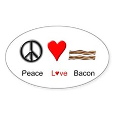 Peace Love Bacon Decal