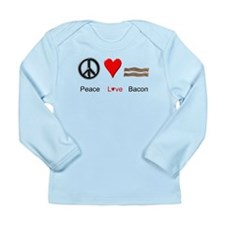 Peace Love Bacon Long Sleeve Infant T-Shirt