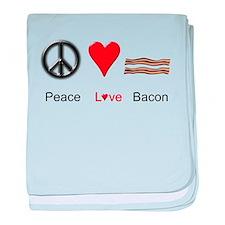 Peace Love Bacon baby blanket