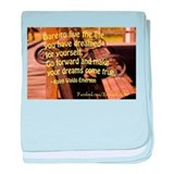 Emerson quote baby blanket