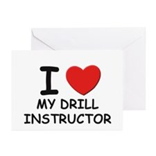 I love drill instructors Greeting Cards (Package o