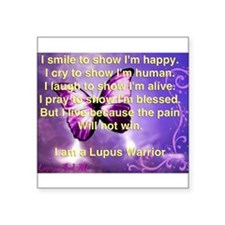 Lupus Warrior Sticker