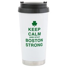 Keep Calm and Boston Strong Ceramic Travel Mug