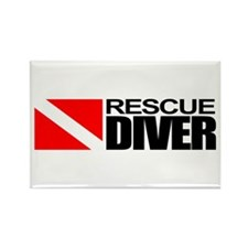 Rescue Diver Rectangle Magnet