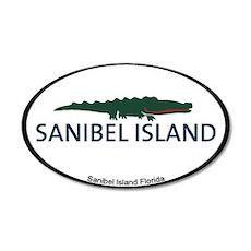 Sanibel Island - Alligator Design. 20x12 Oval Wall