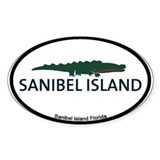 Sanibel Island - Alligator Design. Decal