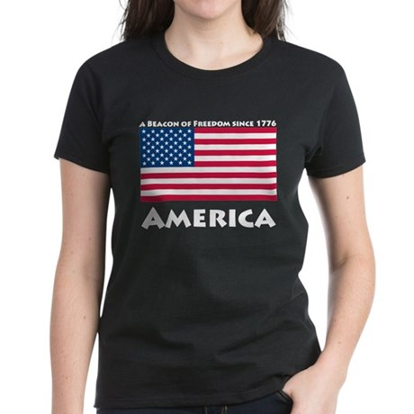 America Freedom Women's Dark T-Shirt