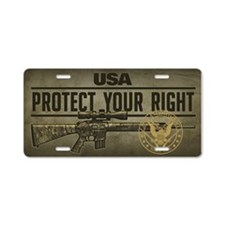 Protect Your Right Aluminum License Plate