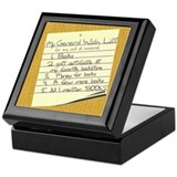 My General Wish List Keepsake Box
