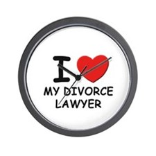 I love divorce lawyer Wall Clock