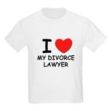 I love divorce lawyer Kids T-Shirt