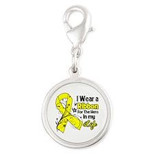 Ribbon Hero Ewing Sarcoma Silver Round Charm