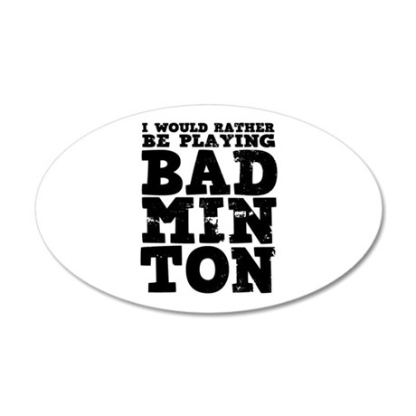 'Playing Badminton' 20x12 Oval Wall Decal