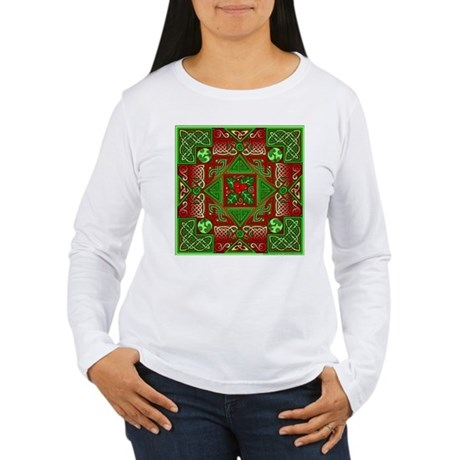 Celtic Labyrinth Holly Women's Long Sleeve T-Shirt