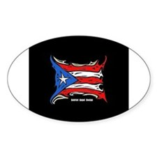 Puerto Rico Heat Flag Decal