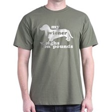 Ten Lb Wiener Military Green T-Shirt