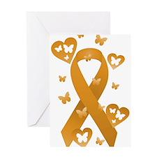 Orange Awareness Ribbon Greeting Card
