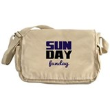 Sunday funday (black/blue) Typographic Messenger B