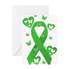 Green Awareness Ribbon Greeting Card