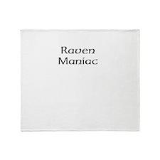 Raven Maniac Throw Blanket