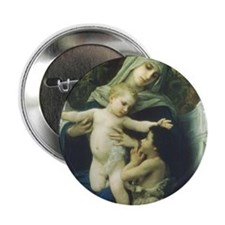 "The Virgin, Baby Jesus and St 2.25"" Button (1"