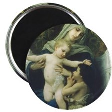 The Virgin, Baby Jesus and St John Magnet (10 PK)