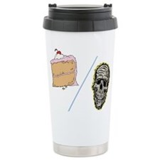 Cake or Death Ceramic Travel Mug