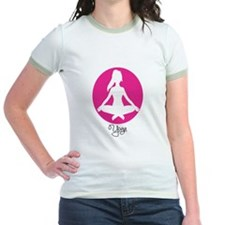 yoga 22 pink white T-Shirt