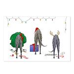 Deerhound Christmas Postcards (Package of 8)