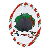 Scottish Terrier Christmas Oval Ornament