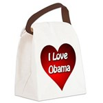 I Love Obama Canvas Lunch Bag