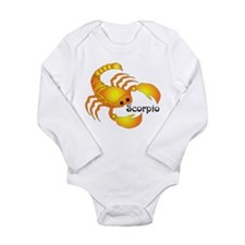 Whimsical Scorpio Long Sleeve Infant Bodysuit