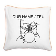 Custom Drum Set Square Canvas Pillow