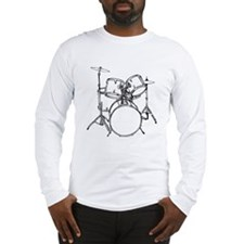 Drum Set Long Sleeve T-Shirt