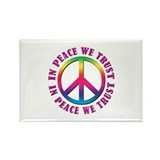 In Peace We Trust Rectangle Magnet (100 pack)