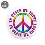"In Peace We Trust 3.5"" Button (10 pack)"