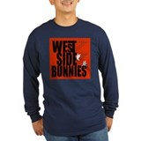 West Side Bunnies Long Sleeve Black T-Shirt