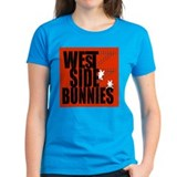 West Side Bunnies Women's Black T-Shirt