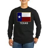 texas flag BLACK SHIRT Long Sleeve T-Shirt