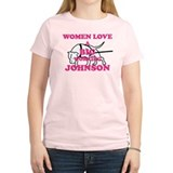 Women Love Working Bulldog Dark T-Shirt