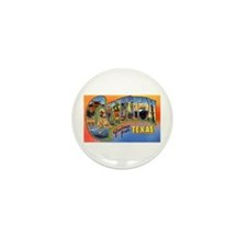 Galveston Texas Greetings Mini Button (10 pack)